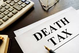 piece of paper that says death tax